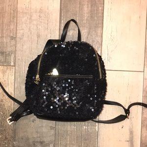 Cute girls Betsey Johnson mini black backpack